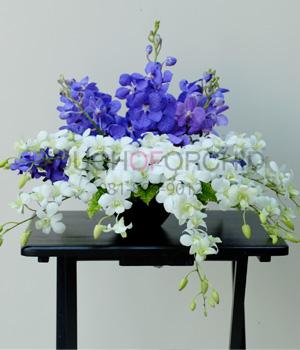 แจกันดอกไม้ Blue Light รหัส 3028