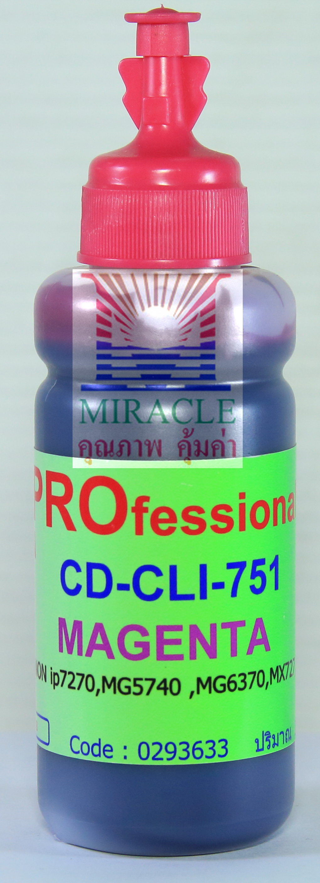 CD-CLI751M REFILL INK MIRACLE PRO 100 cc CANON MAGENTA