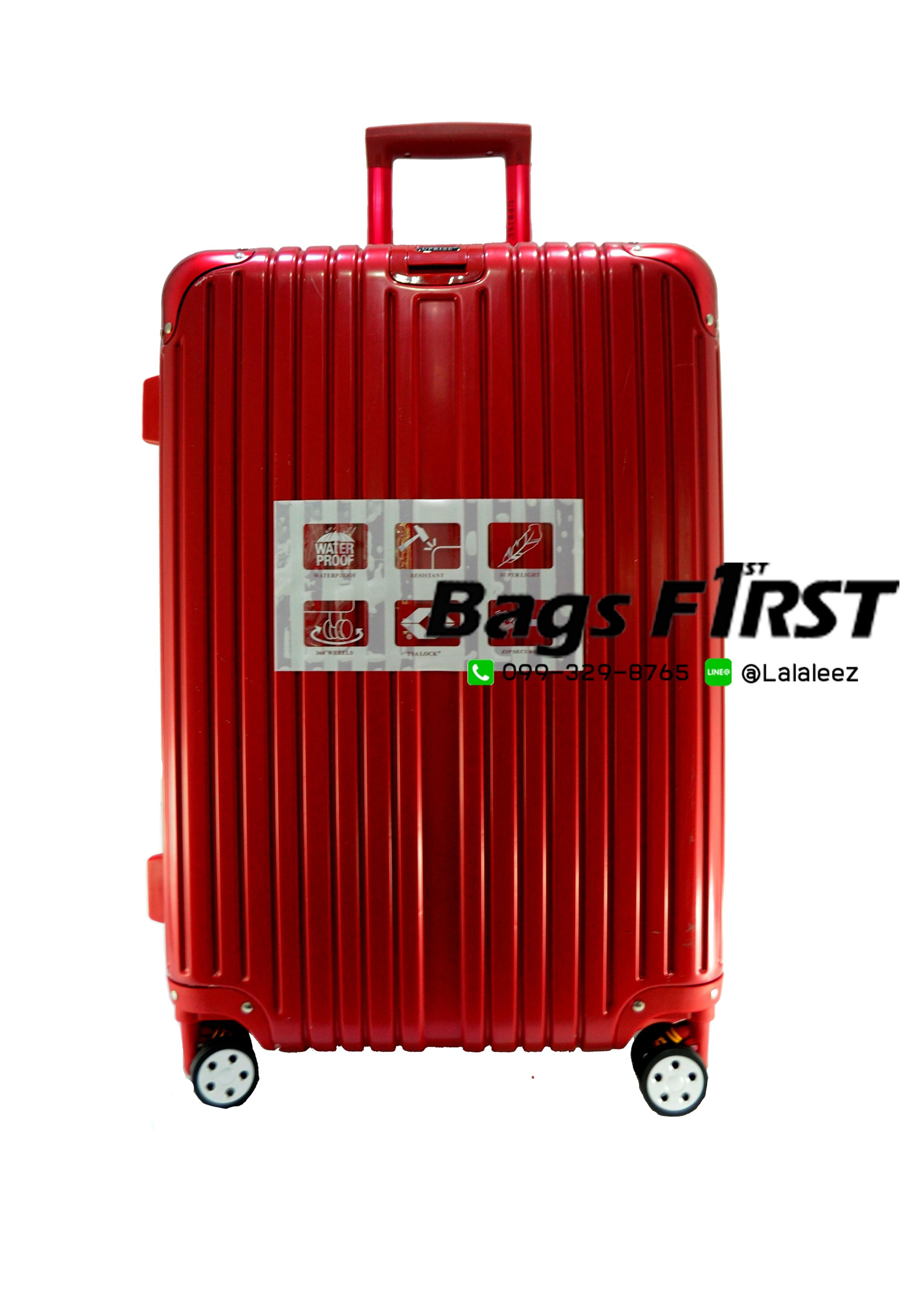 กระเป๋าเดินทาง รหัส 5507 สีแดง ขนาด 24 นิ้ว