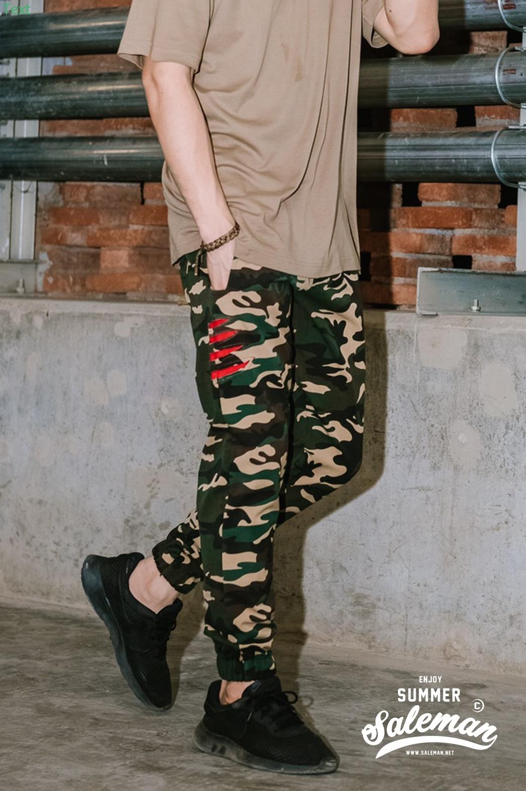 กางเกงขายาว พรีเมี่ยม ผ้า COTTON รหัส WT680 CLAW PANT สีทหารเขียว เล็บเสือดำ