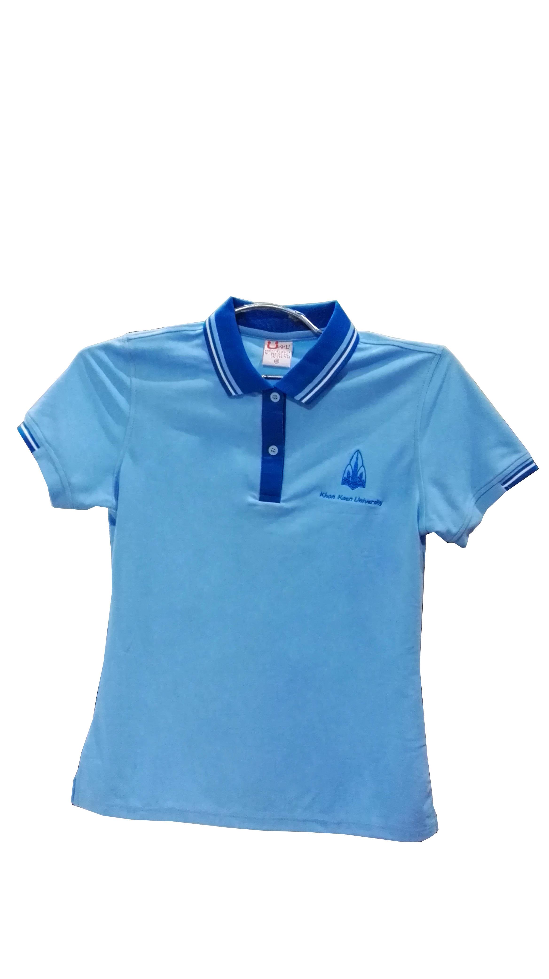 เสื้อโปโลสีฟ้า 2XL(หญิง)
