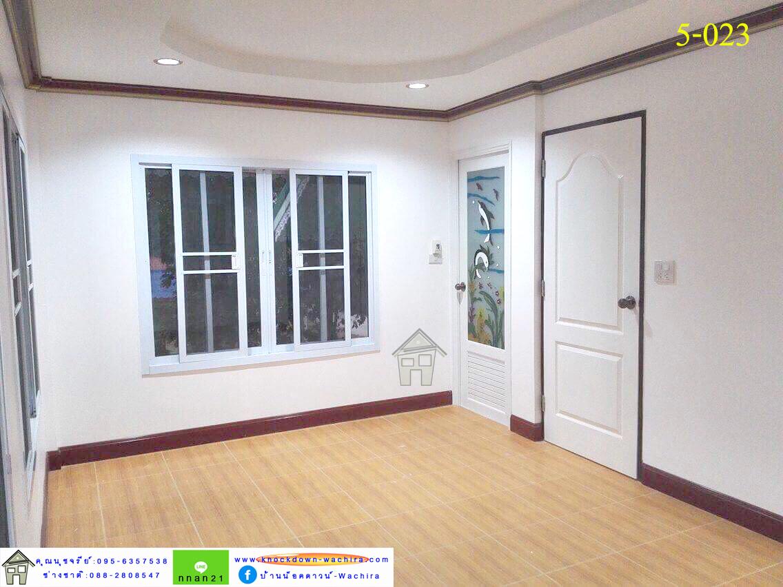 บ้านน๊อกดาวโมเดิร์น,บ้านน๊อกดาวน์ 2 ห้องนอน,บ้านสําเร็จรูปราคาถูก,ราคาบ้านสําเร็จรูป,knockdown-wachira