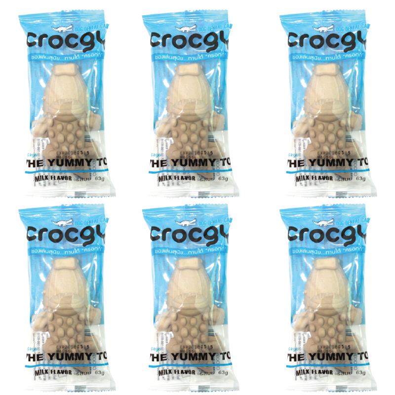 PET2GO ขนมขัดฟันสุนัข CROCGY รสนม 63g (6 ตัว/ชุด)