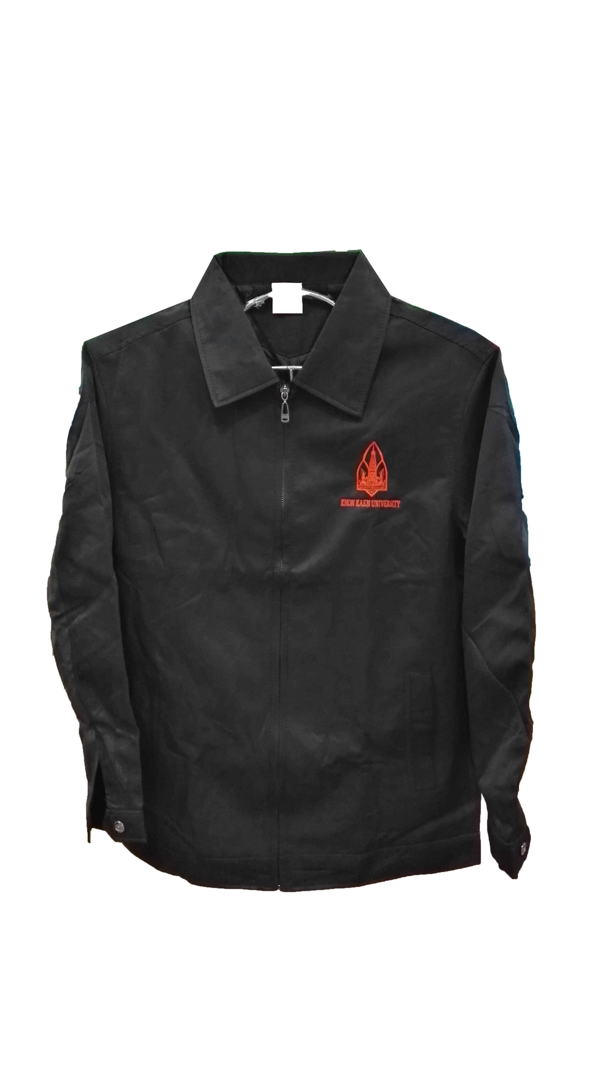 เสื้อแจ็คเก็ตคอปกสีดำ Size M