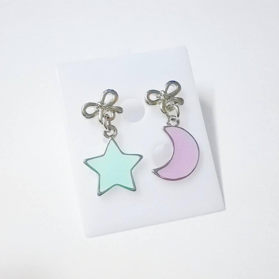 ต่างหูดาว+พระจันทร์