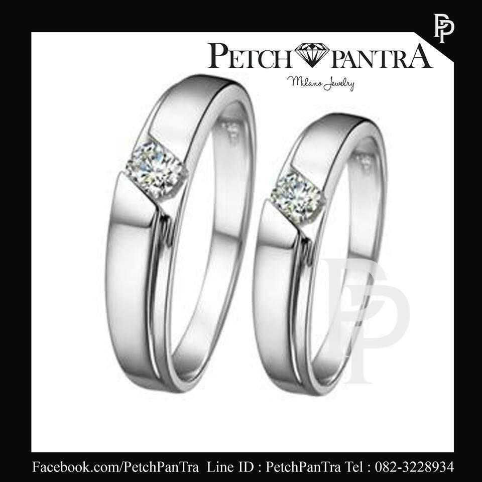 แหวนเพชรCZ แหวนคู่รัก เพชรรัสเซีย