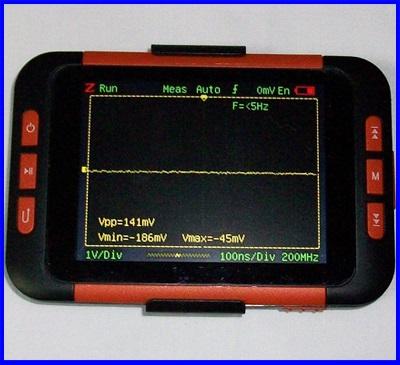 ดิจิตอล ออสซิลโลสโคป Mini Handheld Pocket-Size Digital Oscilloscope 1CH Bandwidth 40M Hz 200MS/s 4K