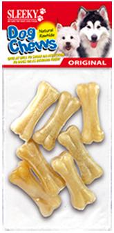 ขนมขัดฟันสุนัข SLEEKY หนังวัวขัดฟันหมาอัดรูปทรงกระดูก ขนาด 2 นิ้ว - แพ็คเล็ก