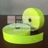 แถบPVCสะท้อนแสง ลายเคฟลา 2นิ้ว สีเขียวมะนาว