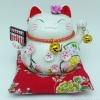 แมวอ้วน แมวกวัก แมวนำโชค สูง 4.5 นิ้ว ถือลูกคิด [A0502]