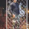 กางเกง Jogger ขาจั๊ม พรีเมี่ยม ผ้า วอร์ม รหัส WT 679 WW สีทหาร แถบ ขาว