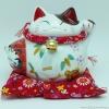 แมวอ้วน แมวกวัก แมวนำโชค สูง 5 นิ้ว ถือดารุมะ [6.8-10684]