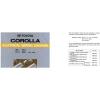 คู่มือซ่อมรถยนต์ WIRING DIAGRAM TOYOTA COROLLA เครื่องยนต์ 4A-F, 7A-FE, 2E, 4E-FE, 2C, 2C-E