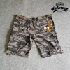 กางเกงขาสั้น รุ่น camo shorts สีลายพรางเทา