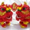 ตุ๊กตา เชิดสิงโต เดินได้ มีเสียง - 1คู่ (2ตัว) - สีแดง [Lion-Rx2] ***สินค้าพร้อมส่ง***