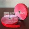 แถบPVCสะท้อนแสง ลายเคฟลา 1นิ้ว สีแดง
