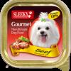 อาหารสุนัข SLEEKY Gourmet รสเนื้อ - อาหารหมาเล็ก