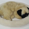 ตุ๊กตาหมา นอนหลับ หายใจได้ (ใส่ถ่าน) ปั๊ก หน้าย่น สีครีม