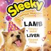 ขนมสุนัข SLEEKY คอมโบนักเกต รสแกะ สอดไส้รสตับ - ขนมหมาทุกสายพันธุ์
