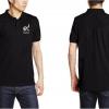 เสื้อคอปก POLO สีดำ งานปัก ร๙