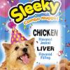 ขนมสุนัข SLEEKY คอมโบนักเกต รสไก่ สอดไส้รสตับ - ขนมหมาทุกสายพันธุ์