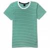 เสื้อยืดคอกลมลายทาง S138 (สีเขียวคลอโรฟิว )