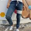 STRETCH JEANS JOGGER PANTS | ขาจั๊มยีนส์ยืด YM606 W