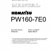 หนังสือ คู่มือซ่อม โอเวอร์ฮอล วงจรไฟฟ้า วงจรไฮดรอลิก จักรกลหนัก PW160-7E0 H55051 (ทั้งคัน) EN