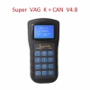 4.8 Super VAG K+CAN Plus v4.6 English Spanish car Diagnostic Tool OBD OBD2 Scannner mileage tools