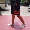 STRETCH ขาสั้นยีนต์ Ym 210 R offwhite