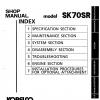 หนังสือ คู่มือซ่อม Kobelco Hydraulic Excavator SK70SR (ข้อมูลทั่วไป ค่าสเปคต่างๆ วงจรไฟฟ้า วงจรไฮดรอลิกส์)