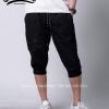 กางเกงสามส่วน พรีเมี่ยม ผ้า COTTON รหัส SST 315 B สีดำ แถบดำเคปล่า