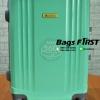 กระเป๋าเดินทาง ไฟเบอร์ ขนาด 20 นิ้ว ขอบอลูมิเนียม สีเขียว