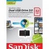 Flash Drive SanDisk Ultra Dual USB Drive 3.0 32 GB สีดำ