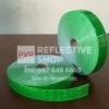 แถบPVCสะท้อนแสง ลายเคฟลา 1นิ้ว สีเขียวตอง