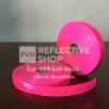 แถบPVCสะท้อนแสง แบบเรียบ 1นิ้ว สีชมพู