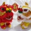 ตุ๊กตา เชิดสิงโต เดินได้ มีเสียง - 1คู่ (2ตัว) - สีทองและสีแดง [Lion-G-R] ***สินค้าพร้อมส่ง***