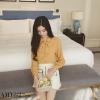 เสื้อชีฟองสีเหลืองมัสตาดแขนยาว