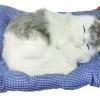 """ตุ๊กตาแมวนอนหลับ มีเสียงร้อง """"เมี้ยวๆๆ I love u"""" (เมื่อไปตบๆที่ตัวแมว) ขนาด 13นิ้วx10นิ้ว [catmeow-L2]"""