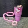 ชุดแก้วเยติ พื้นสีชมพูเข้ม Hello Kitty 30 ออนซ์