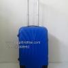 กระเป๋าเดินทางใบเล็ก ลายพัดสีน้ำเงิน ไซส์ 20 นิ้ว 4 ล้อลาก