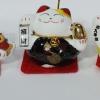 แมวกวัก แมวนำโชค สูง1.5นิ้ว ชุด 5 ตัว [catset-M1]