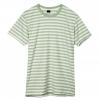 เสื้อยืดคอกลมลายทาง S163 (สีเขียวอ่อนฟอก)
