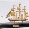 เรือสำเภา เรือใบ ทองเหลือง ชุบทอง 24K พร้อมตู้ Size M (ขายส่งยกลัง - Pre order)
