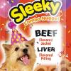 ขนมสุนัข SLEEKY คอมโบนักเกต รสเนื้อ สอดไส้รสตับ - ขนมหมาทุกสายพันธุ์