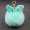 พวงกุญแจ ลูกบอล ขนกระต่าย