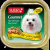 อาหารสุนัข SLEEKY Gourmet รสเนื้อ-ตับ-ผัก - อาหารหมาเล็ก