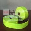แถบPVCสะท้อนแสง แบบเรียบ 2นิ้ว สีเขียวมะนาว