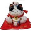 แมวกวัก แมวนำโชค สูง3.5นิ้ว นั่งถือค้อน ให้โชคลาภ [53391]