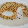 ตุ๊กตาแมว นอนหลับ หายใจได้ (ใส่ถ่าน) สีการ์ฟีลด์